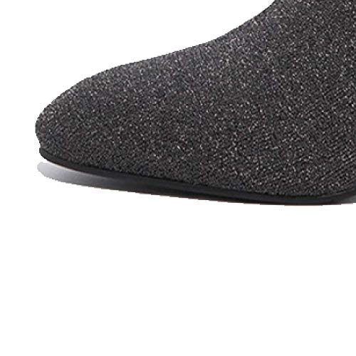 Chaussures Zqzq à résistant Antidérapant femmes Mode Ankle Boots Wild l'usure Noir Rnr1Fn