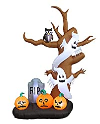 9 Foot Tall Halloween Inflatable Tree with Ghosts,...