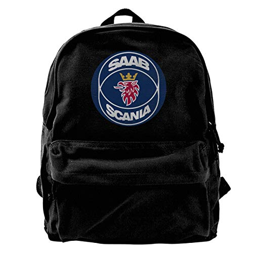 - TIMOTHY HORN SAAB Logo Canvas Backpack Laptop Backpack School Backpack | Travel, Work, School | Men's and Women's | Boys and Girls