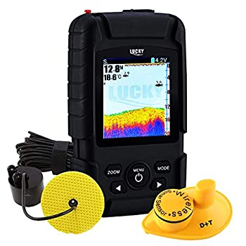 Image of 2-in-1 LUCKY Rechargeable Fishfinder Depth Wireless 147ft (45m) Transducer Depth 328ft (100m) Waterproof Fish Finder for Fisherman & Fishing Enthusiast Fish Finders & Depth Finders