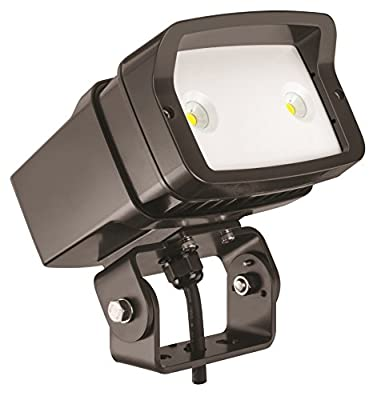 Lithonia Lighting OFL1 LED P1 Contractor Select 40K MVOLT YK DDBXD M4 4000K Color Temperature Size 1 Floodlight with P1 Performance Package - Yoke Mounted