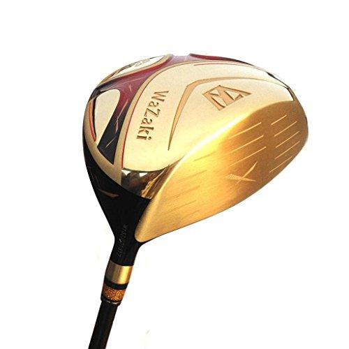 Japan Wazaki Cycloneチタン460ccゴルフクラブゴールドグラファイトシャフトClose面角度ドライバー