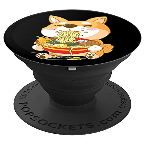 Funny Japanese Kawaii Shiba Inu Ramen - PopSockets Grip and Stand for Phones and Tablets