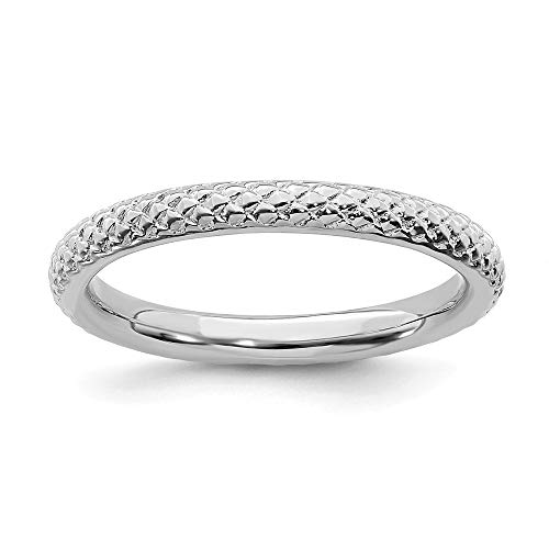 925 Sterling Silver Cable Band Ring Size 7.00 Stackable Fancy/Fine Jewelry Gifts For Women For Her ()