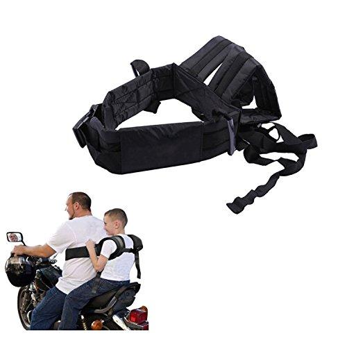 Soft Children's Outdoor Motorcycle Safety Harness Adjustable Strap Kid Bike Seat Belt ()