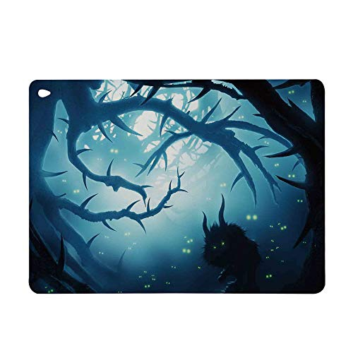 (Case for Apple iPad Mini 4 Smart Sleep Wake Color Pattern TPU Leather Tablet Cover Case for Apple iPad,Burning Eyes in Dark Forest at Night Horror)