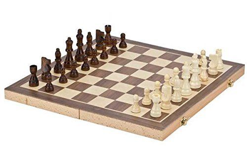 Chh Magnetic Folding Walnut Chess Set - 12