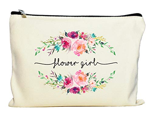 Flower Girl Bags - Flower Girl Makeup Bag, Flower Girl Gift, Bridal Party Favor, Cosmetic Pouch, Wedding Party Gift, Gift from Bride