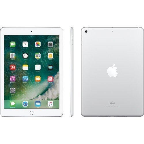 Apple iPad 9.7'' (2017) 128GB Wi-Fi Silver Accessories Bundle(10,000mAh iPad Power Bank, iPad Stylus Pen, Microfiber Cloth) by Apple Tablet (Image #1)