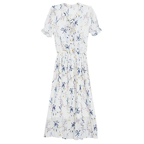 Heart Ancienne Fleur de Jupe Casse Mousseline M MiGMV Robe Dress Fairy Super Robes fe Girl's Robe Ciel de Bleu pOnSq