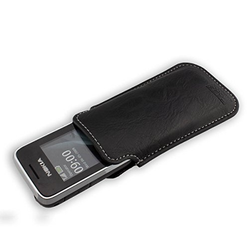 caseroxx Business style smartphone case Nokia 2700 / 2730 made of faux leather in black