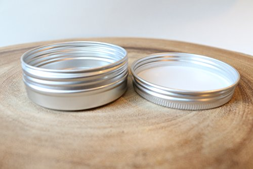 1oz Screw Top Round Tin Containers for Crafts Cosmetics Candles Geocaching (50)