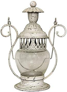 Keyhome - Farol portavelas de Hierro, decoración para la casa, Fiesta de Boda, jardín, diseño - Altura 27 cm