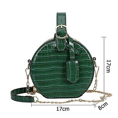 11b9ebe6b3 Chaussures et Sacs Sacs portés épaule OneMoreT Sacs à bandoulière ronds en  cuir PU pour femme Vert