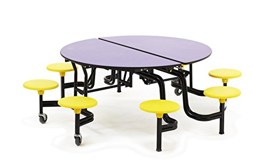 Mobile Stool Table, Round, 60