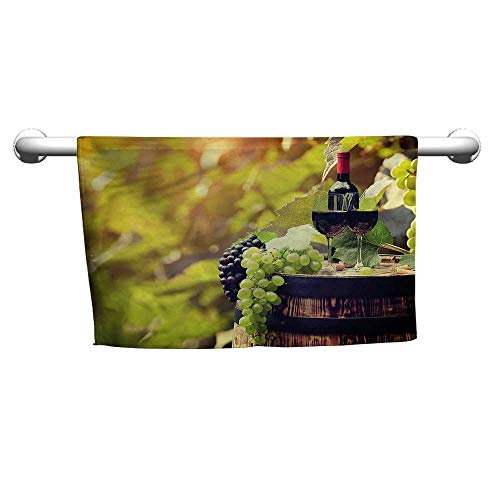 alisoso Bath Towels Wine,Agriculture Country Drink W 24