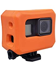 Treabow Floaty for GoPro Hero 6 Hero 5 Cameras Orange Floating Case for GoPro Floater Accessories Use for Water Sports Swimming Diving