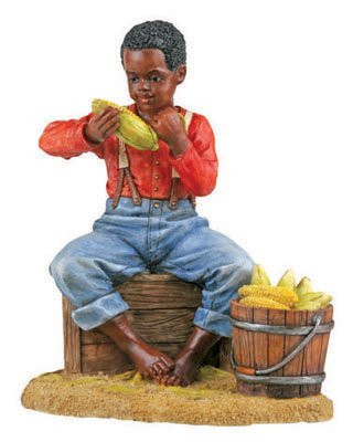 YTC Summit Shucking Corn Figurine