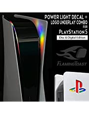 PS5 Power Light Decal and Underlay Sticker Combo - PlayStation 5 - (Double Rainbow)