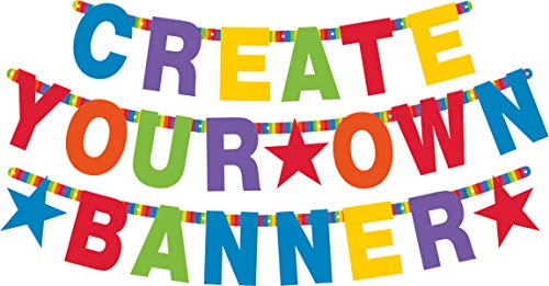 Customized Banner For Birthday (Amscan 120183 Letter Banner, One Size, Multicolor, Multi Sizes,)