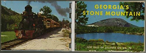 Georgia's Stone Mountain & Scenic Railroad - Miniature Souvenir Photo Album - Plastic Comb Binding - 1965