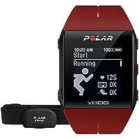 Relógio com GPS Multiesporte V800, Polar, Relógio para Esportes, Vermelho, Único