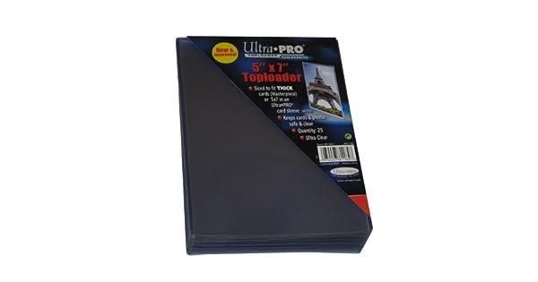 25 Ultra Pro 4x6 toploaders foto tarjeta Deportiva Coleccionable rígido manga Postal