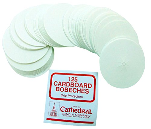 Cardboard Bobeches Box of 125 Candle Drip Protectors - Cathedral Votive Candle
