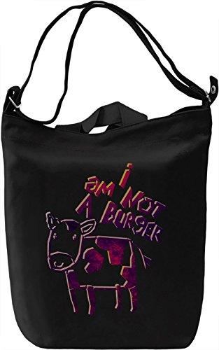 I Am Not A Burger Borsa Giornaliera Canvas Canvas Day Bag  100% Premium Cotton Canvas  DTG Printing 