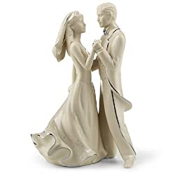 """A romantic table item or cake topper. Features an updated, contemporary look to reflect the modern bride. Platinum accents with metallic decals in silver-gray tone. Part of the Wedding Promise Collection from Lenox. Imported. 6H"""".Designed to be the c..."""