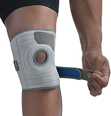 for Knee Pain and Tendonitis One Size BraceFX BISS AA240.300U Open Patella and Gel Ring to Stabilize and Cushion Kneecap BraceFX Adjustable Knee Support