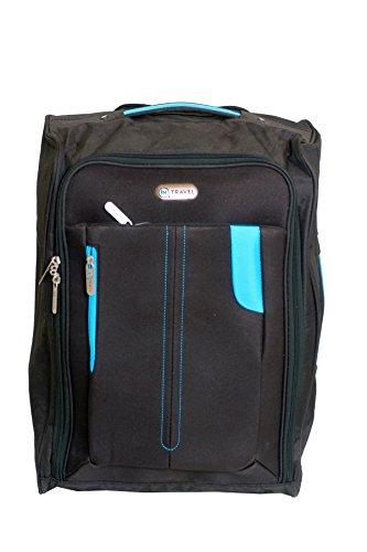InTravel - Valigia adatta come bagaglio a mano per cabina EasyJet, super leggera, con manico e ruote telescopiche, ideale per compagnie aeree quali Ryanair, KLM, Virgin, British Airways