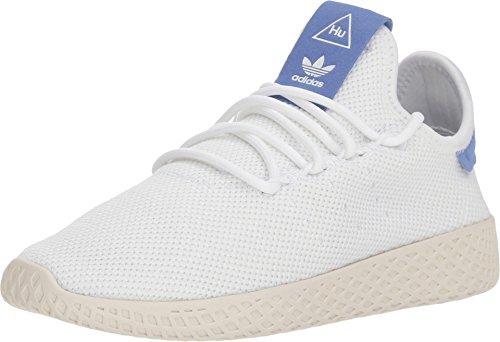 adidas Originals Kids Unisex PW Tennis HU J (Big Kid) White/Blue/Chalk White 3.5 M US Big - Kids Adidas Retro