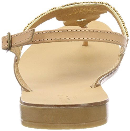 PIECES Damen Pscarmen Leather Sandal Zehentrenner Beige (Nude)