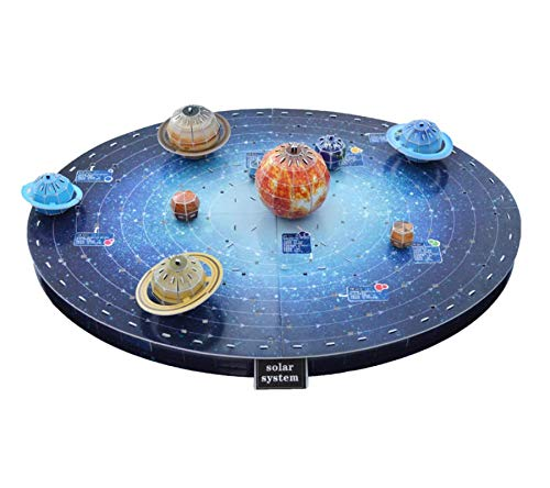 3D Solar System Puzzle Set - Eco-Friendly Educational Space Set with Detailed and Realistic Illustrations - Planet Puzzle Set to Enhance Creativity and Space Awareness – Comes with a Planetary Guide