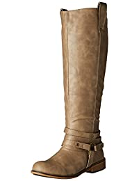 Brinley Co Women's Bailey Riding Boot Regular & Wide Calf