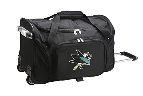 NHL San Jose Sharks Wheeled Duffle Bag, 22 x 12 x 5.5