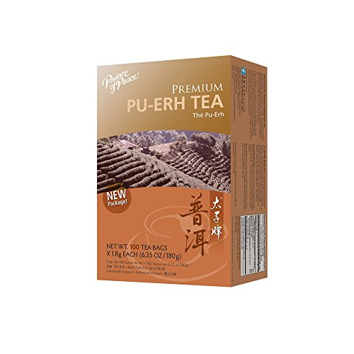 - Prince Of Peace Tea Premium Pu-erh Tea, 100 teabags