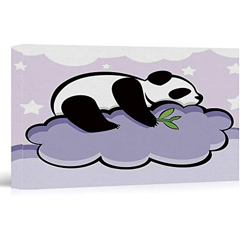 Panda Canvas Reproduction - Oil Paintings Reproduction Modern Giclee Canvas Prints Artwork - Panda - Pictures Printed on Canvas Wall Art for Home Office Decorations - 24