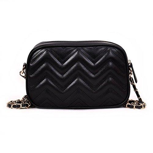 Crossbody Black Tote Women Fashion Bag Travel JAGENIE Ladies Shoulder Messenger Silver Handbag Purse Ap74q