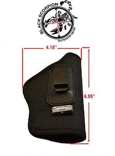 Black Scorpion Outdoor Gear IWB Multigun Holster BSGMGR2 Nylon 1680D .Concealed Carry Holster Springfield XD,XDM Sig P320f,P226 Glock 17,22 Beretta 92F S&W MP9/40 HK P7,VP9 FN P45, P9 by Black Scorpion Outdoor Gear (Image #3)