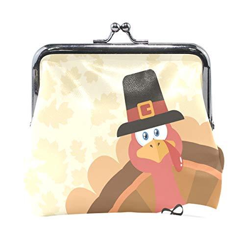 Bolso de piel para mujer, diseño clásico con texto en inglés'Happy ThanksGiving'