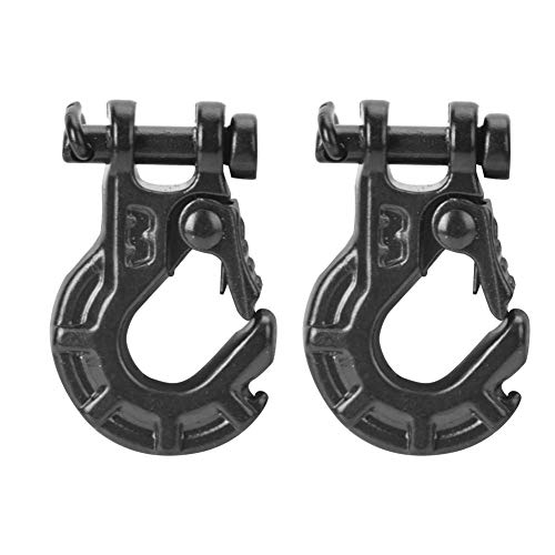 RC Winch Hook, 2PCS Model Vehicle Accessory Metal 1/10 Trailer Hook for SCX10 1/10 Scale RC Car