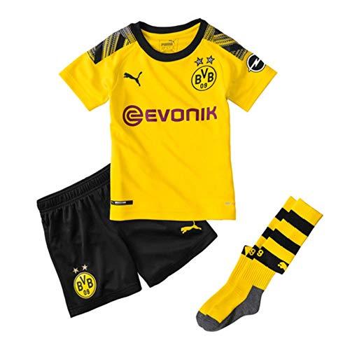 PUMA 2019-2020 Borussia Dortmund Home Little Boys Mini Kit