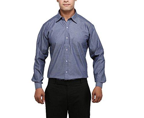 81cb48dfbb0 MANI Men s Formal Shirt (MI-01-XL Blue XL)  Amazon.in  Clothing    Accessories