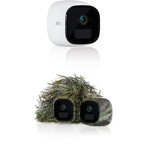 Arlo Go - Mobile HD Security Camera with Data Plan| Night Vision| Works with Alexa and Set of 2 Skins - Ghillie & Mossy Oak ()