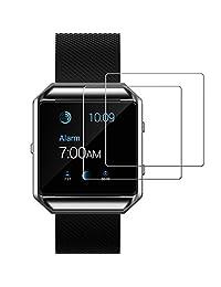 Fitbit Blaze Screen Protector, JETech 2-Pack Premium Tempered Glass Screen Protector for Fitbit Blaze Watch - 0940
