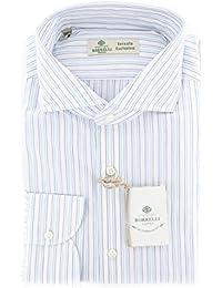 New Borrelli White Striped Extra Slim Shirt