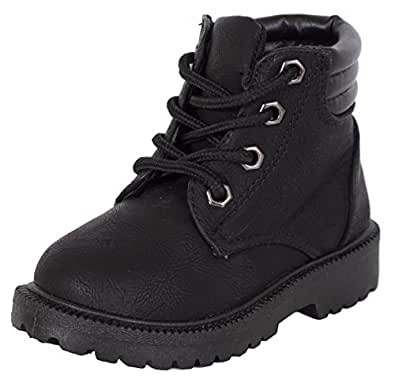 Amazon.com | Rugged Bear Boys Lace Up Work Boot | Snow Boots