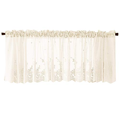 Celiy  Waffle Woven Textured Valance for Bathroom Water Repellent Window Covering